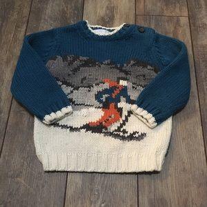 Janie And Jack Baby boy knit ski sweater 18-24m